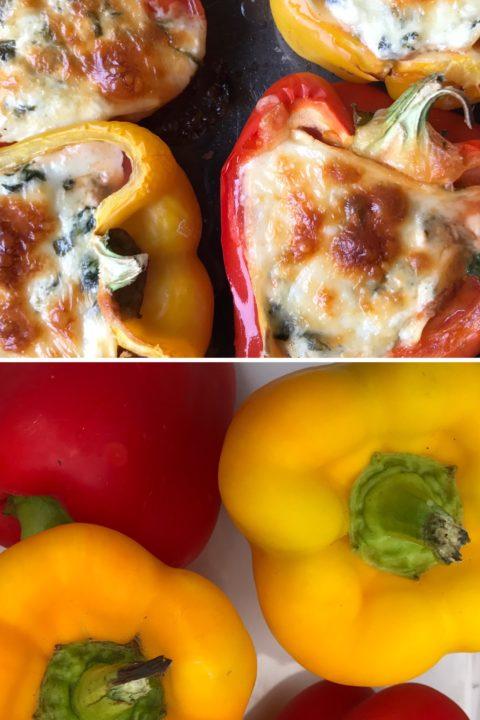 Aimée Wimbush-Bourque of Simple Bites makes Spinach Lasagna Stuffed Sweet Peppers